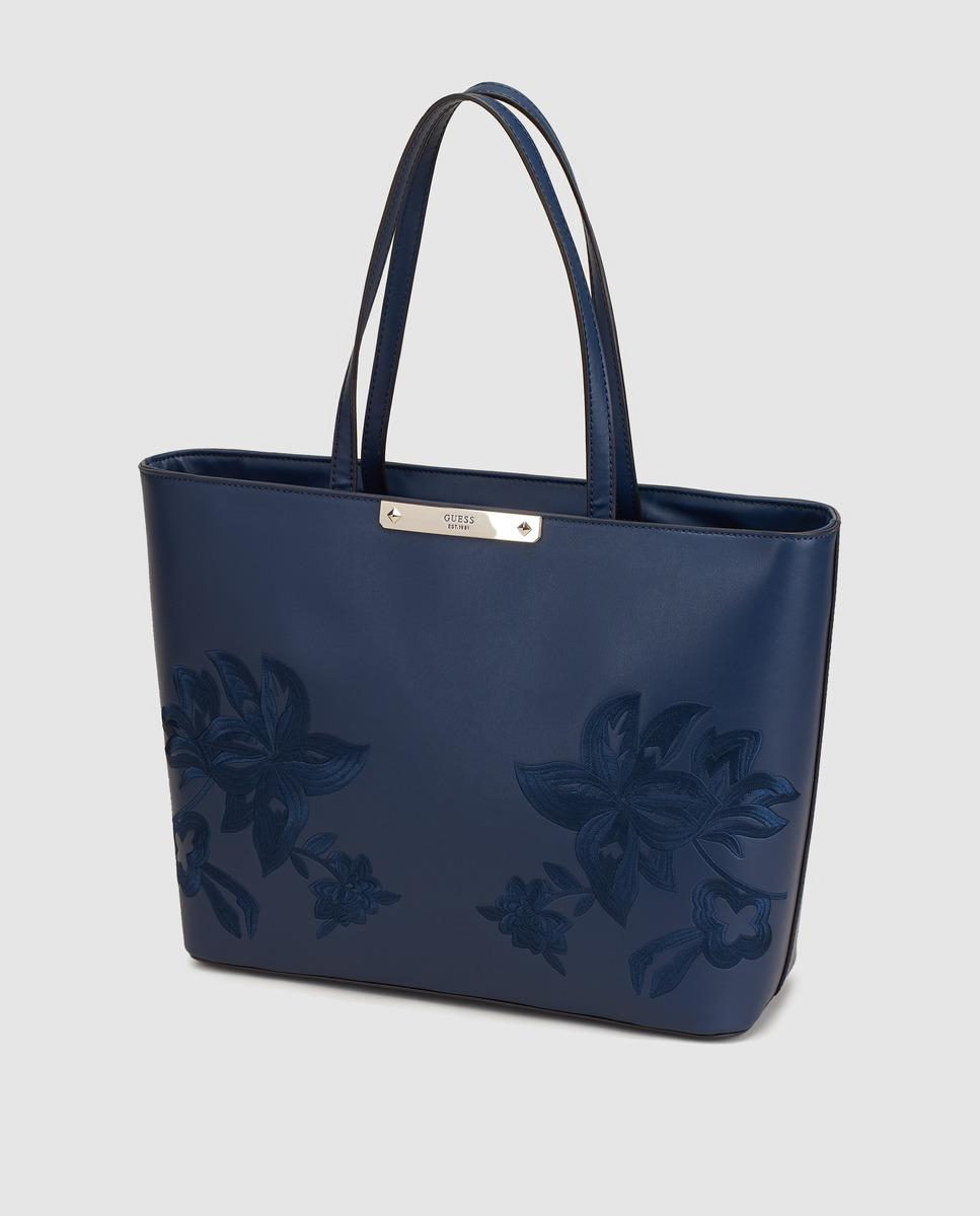 Guess Handbags Navy Blue - Image Of Handbags