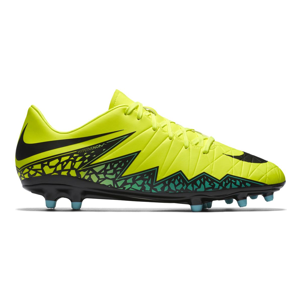 nike hypervenom phelon ii fg football boots in yellow for