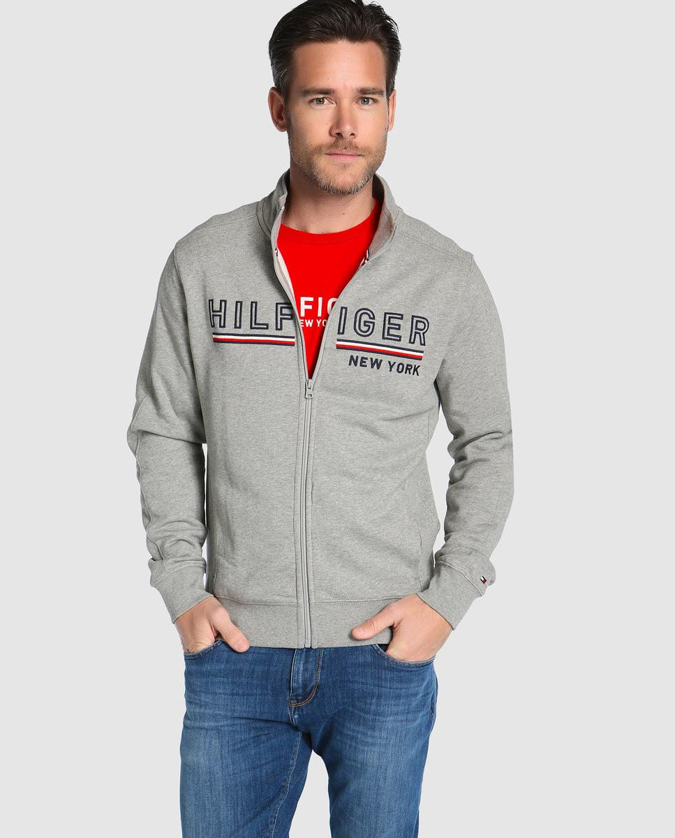 Lyst Tommy Hilfiger Grey Athletic Jacket With Two