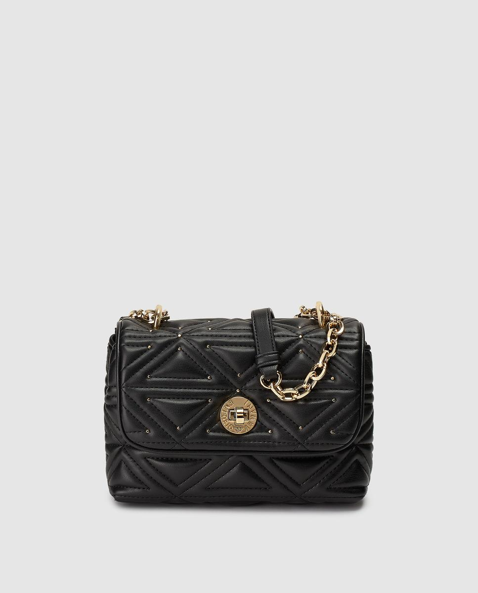 f7820444b40b Lyst - Emporio Armani Black Quilted Crossbody Bag With Fastener in Black