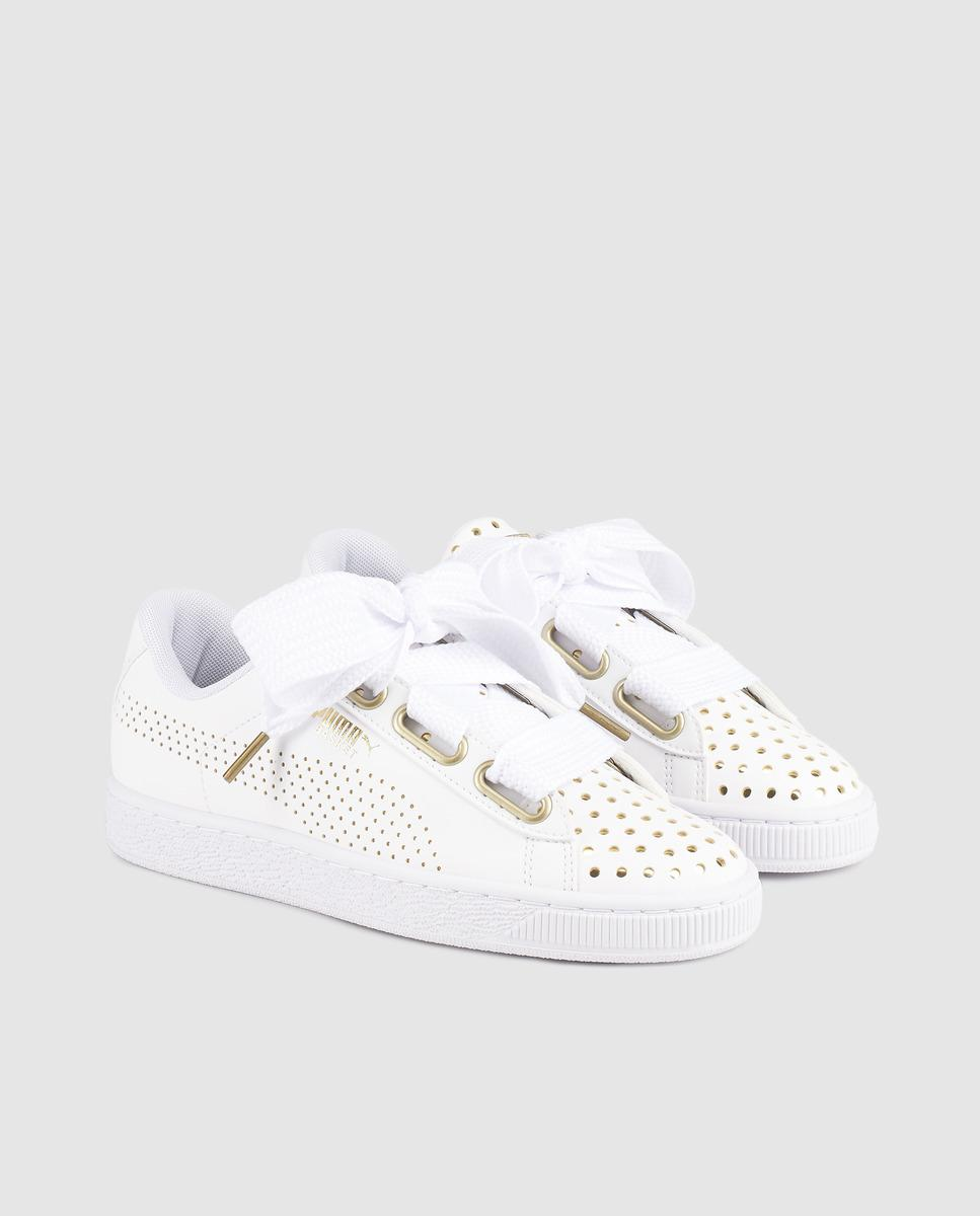 359043008b49 Lyst - PUMA Basket Heart Ath Lux Wn s in White