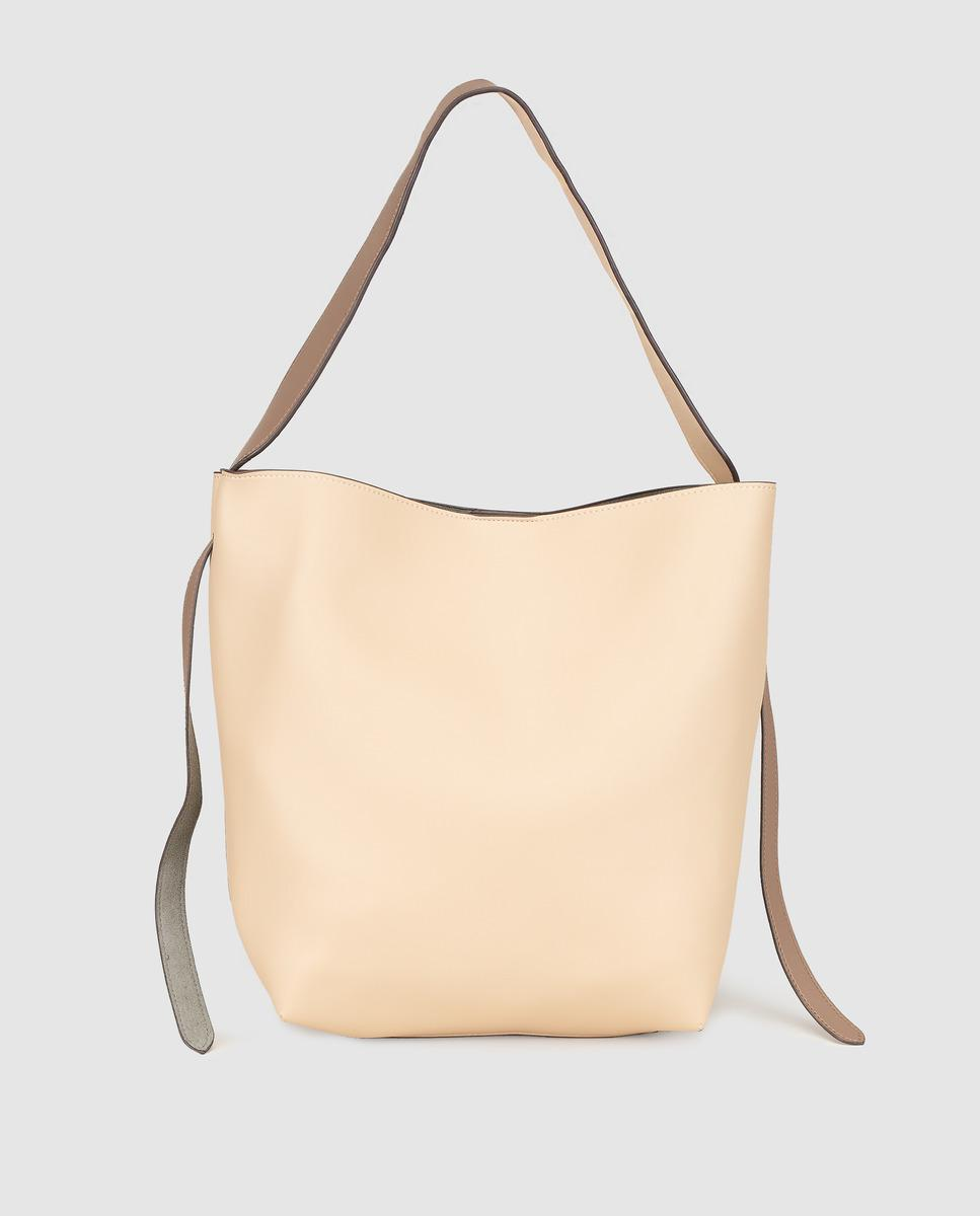 El Corte Inglés. Women s Natural Two-tone Taupe And Nude Hobo Bag With  Magnet 4a7d5aa54a1b7
