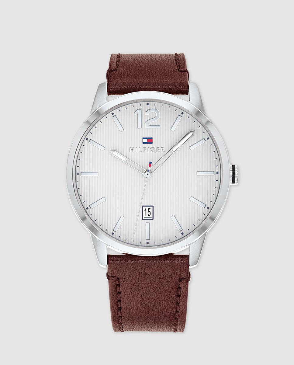92c31991e Lyst - Tommy Hilfiger 1791495 Brown Leather Watch in Brown for Men