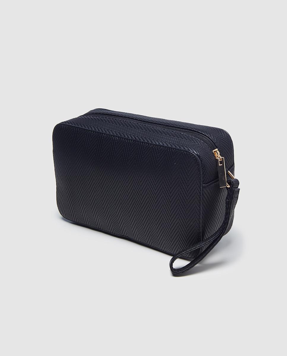 ad23ebbfba El Corte Inglés Black Toiletry Bag With Zip in Black - Lyst