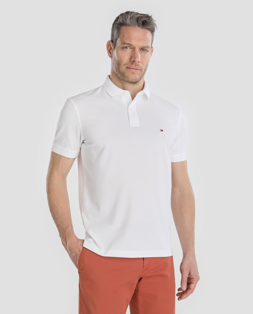 Lyst Tommy Hilfiger White Short Sleeved Piqu Polo Shirt In White