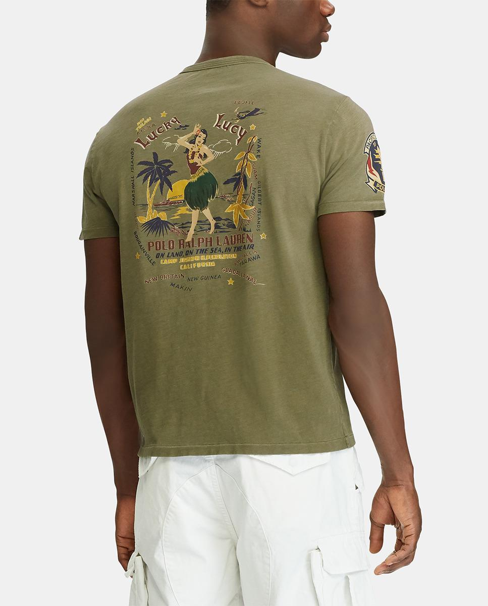 Lyst Polo Ralph Lauren Green Short Sleeve T Shirt In Green For Men