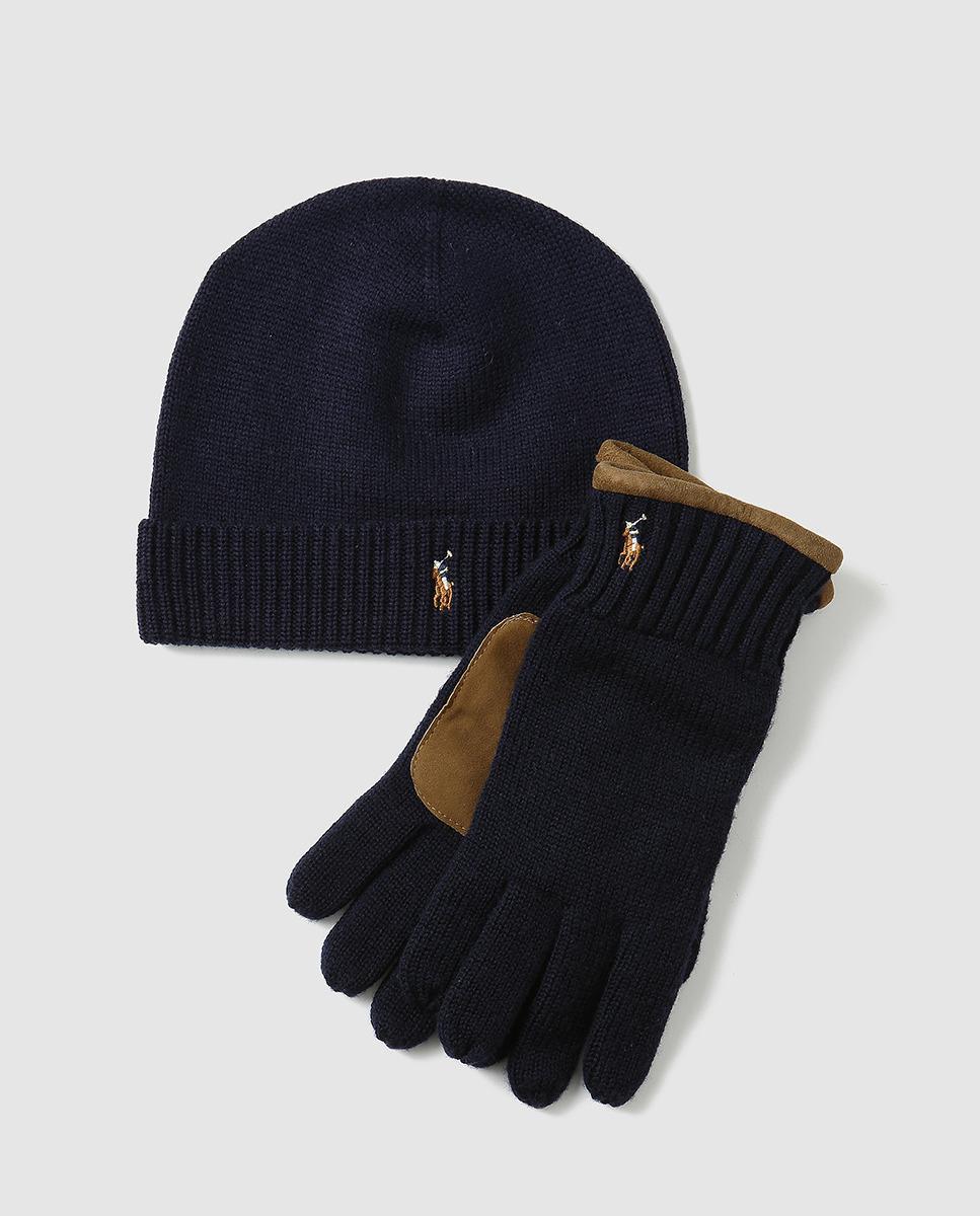 84af34a4aec8d shop lyst polo ralph lauren hat scarf accessories set in blue for men eec45  192c8