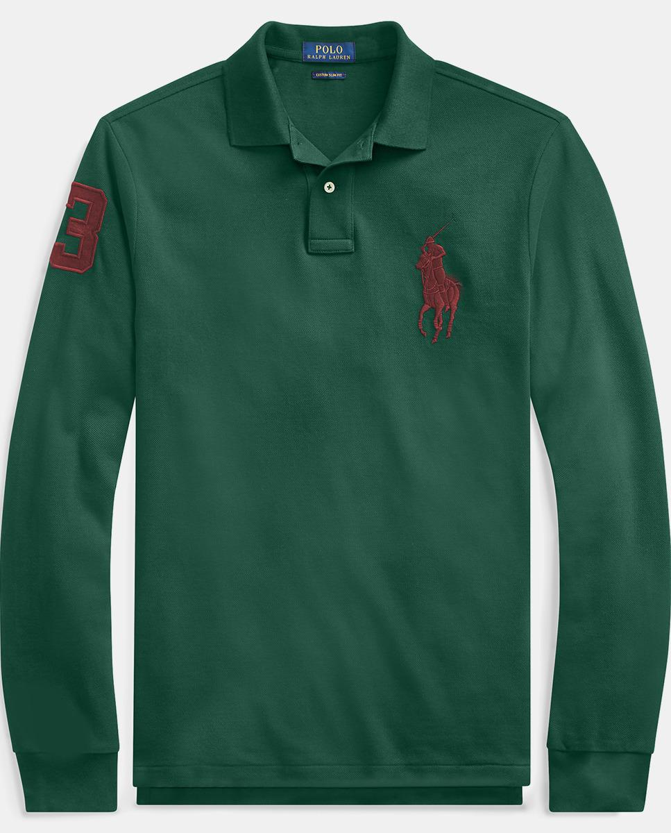 4969e332c8 Polo Ralph Lauren - Regular-fit Green Long Sleeve Piqué Polo Shirt for Men  -. View fullscreen