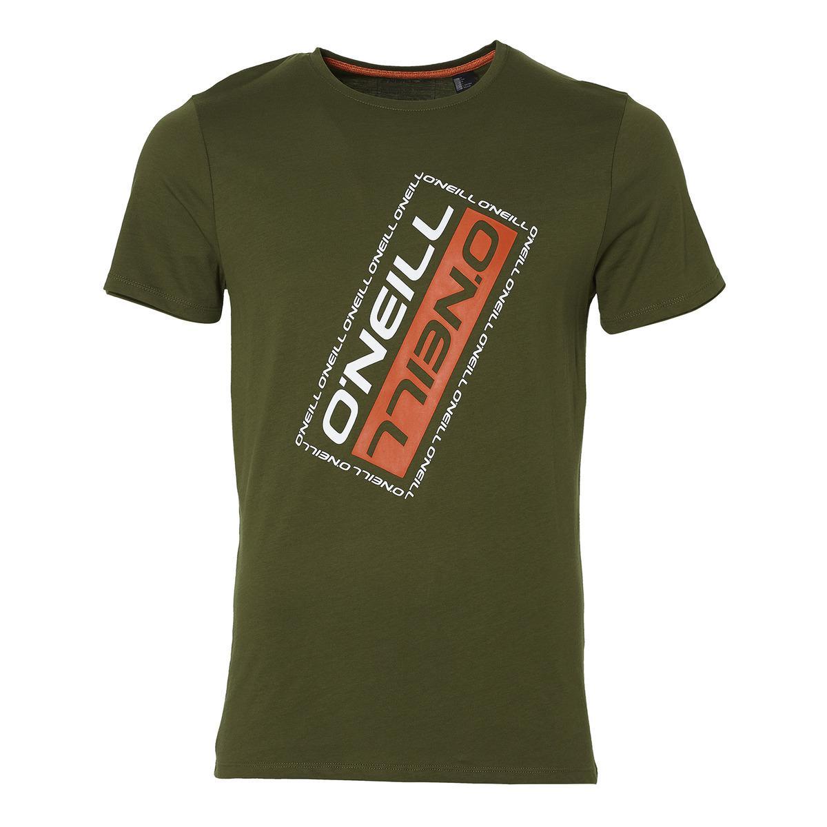 620cf67be69181 O neill Sportswear Oneill Slanted T-shirt in Green for Men - Lyst