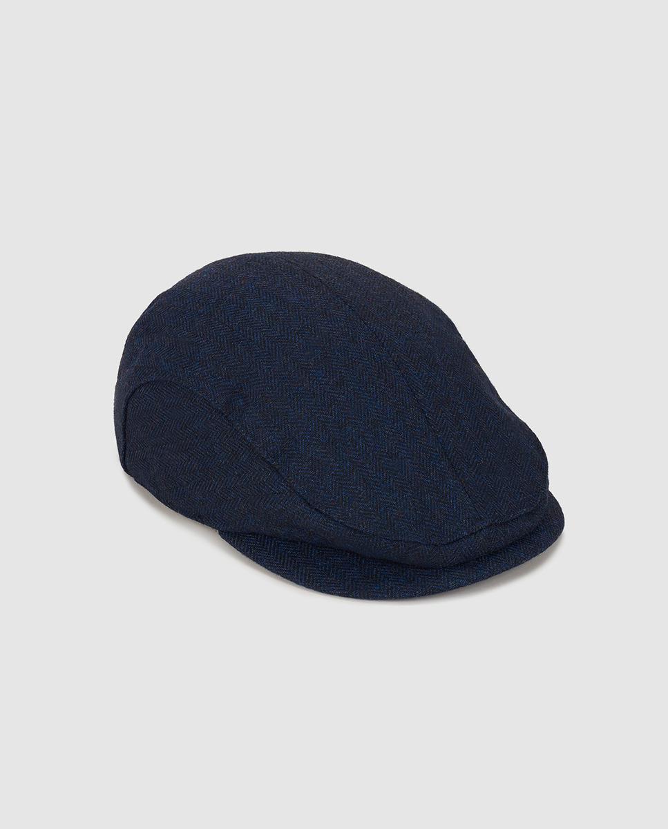 ac42ca90 GANT Navy Blue Flat Cap in Blue for Men - Lyst