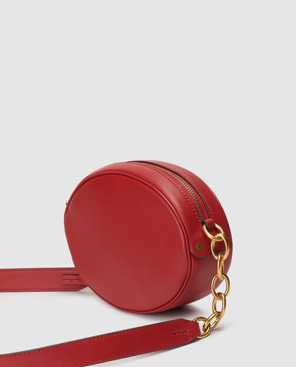 302e74ddb5 Polo Ralph Lauren Red Cowhide Leather Mini Crossbody Bag in Red - Lyst