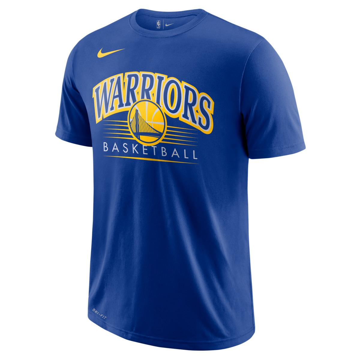 d76081ad447 Nike Golden State Warriors 2018-2019 Dry Crest T-shirt in Blue for ...