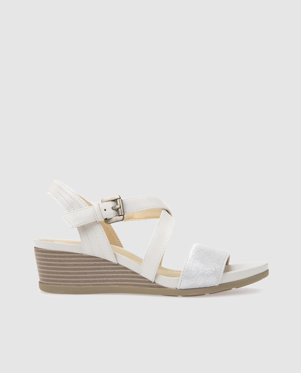 d11d2f55b71 Geox White Wedge Sandals. Available Online Only. in White - Lyst