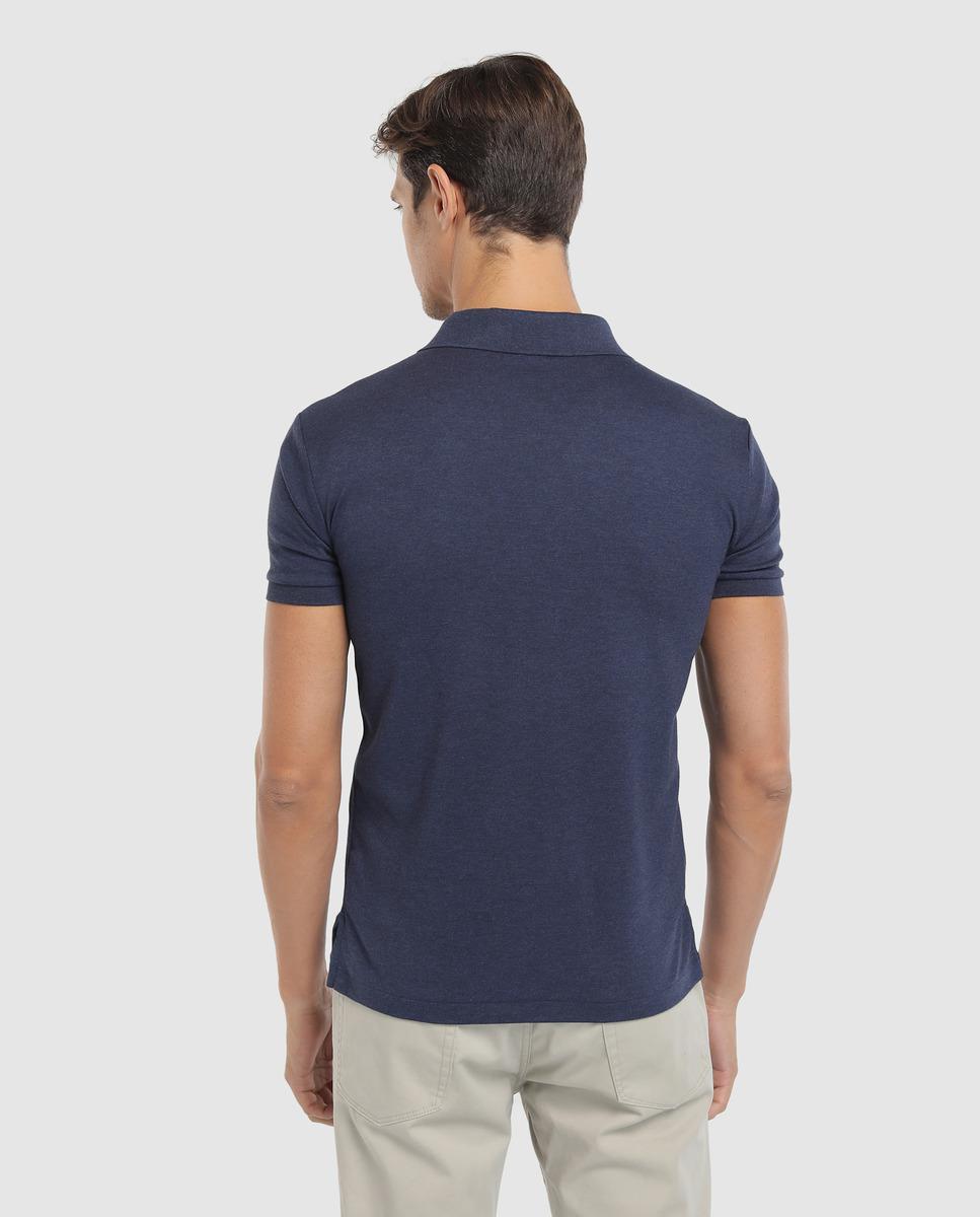 e3e16522d6ce Polo Ralph Lauren Mens Slim-fit Blue Short Sleeve Piqué Polo Shirt in Blue  for Men - Lyst