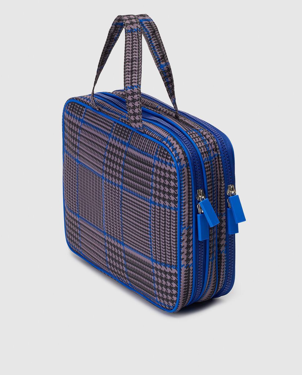 ae33447c16 Lyst - El Corte Inglés Large Blue Printed Nylon Toiletry Bag in Blue