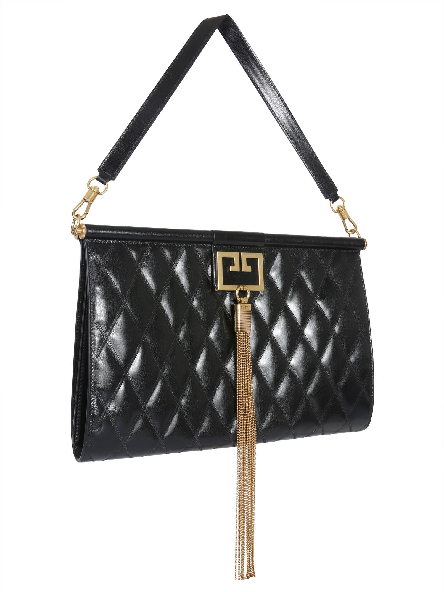baba362bceb Lyst - Givenchy Large Quilted Leather Gem Bag in Black