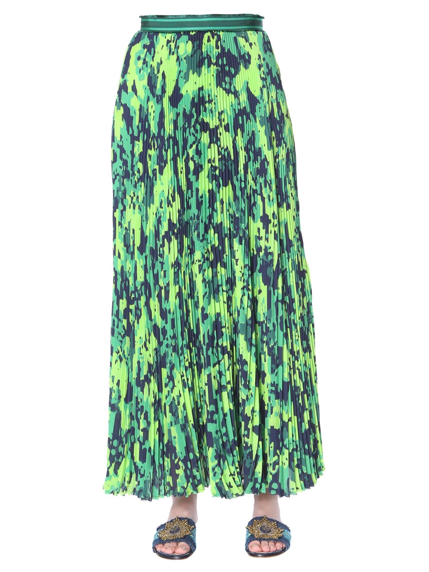 aa828579d8 Lyst - Mr & Mrs Italy Long Pleated Skirt With Geo Camouflage Print in Green