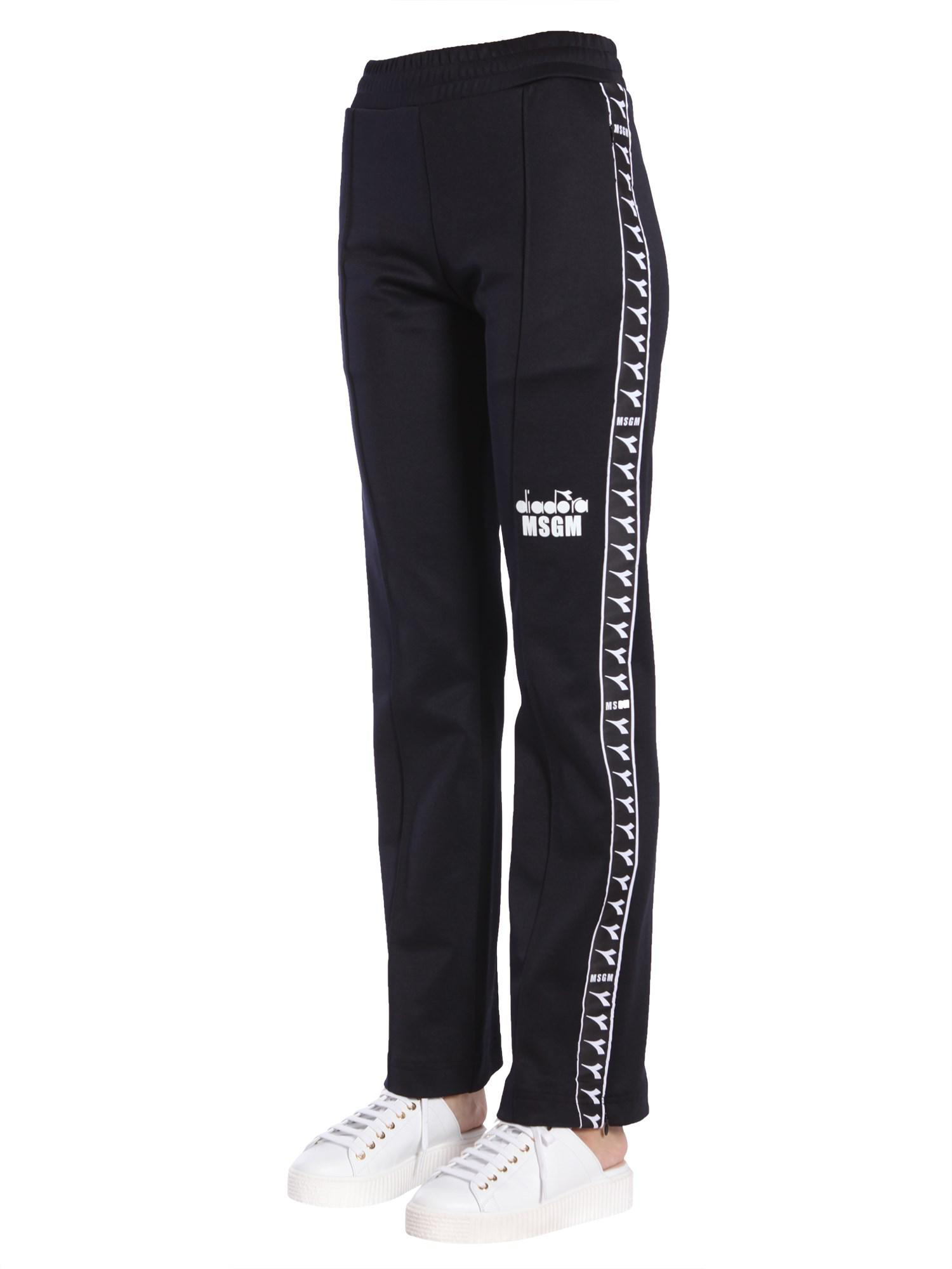 Black logo band trouser Msgm ptb4J