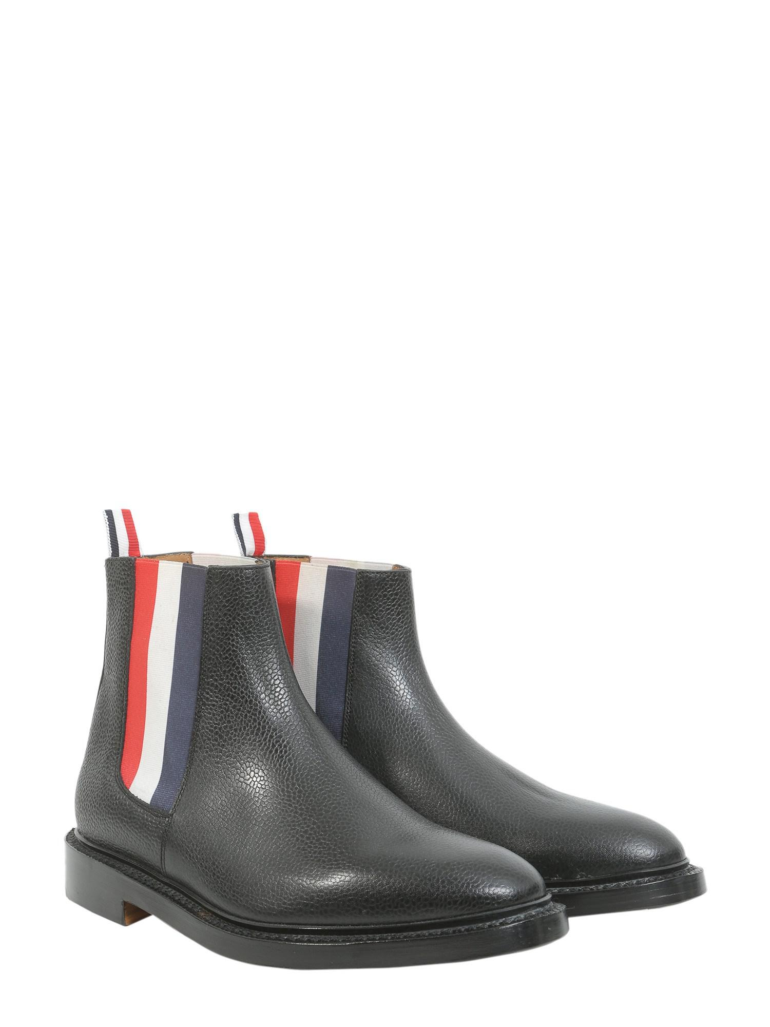 e02c6ead3eb51 ... Black Leather Chelsea Boots With Elasticated Logo for Men - Lyst. View  fullscreen