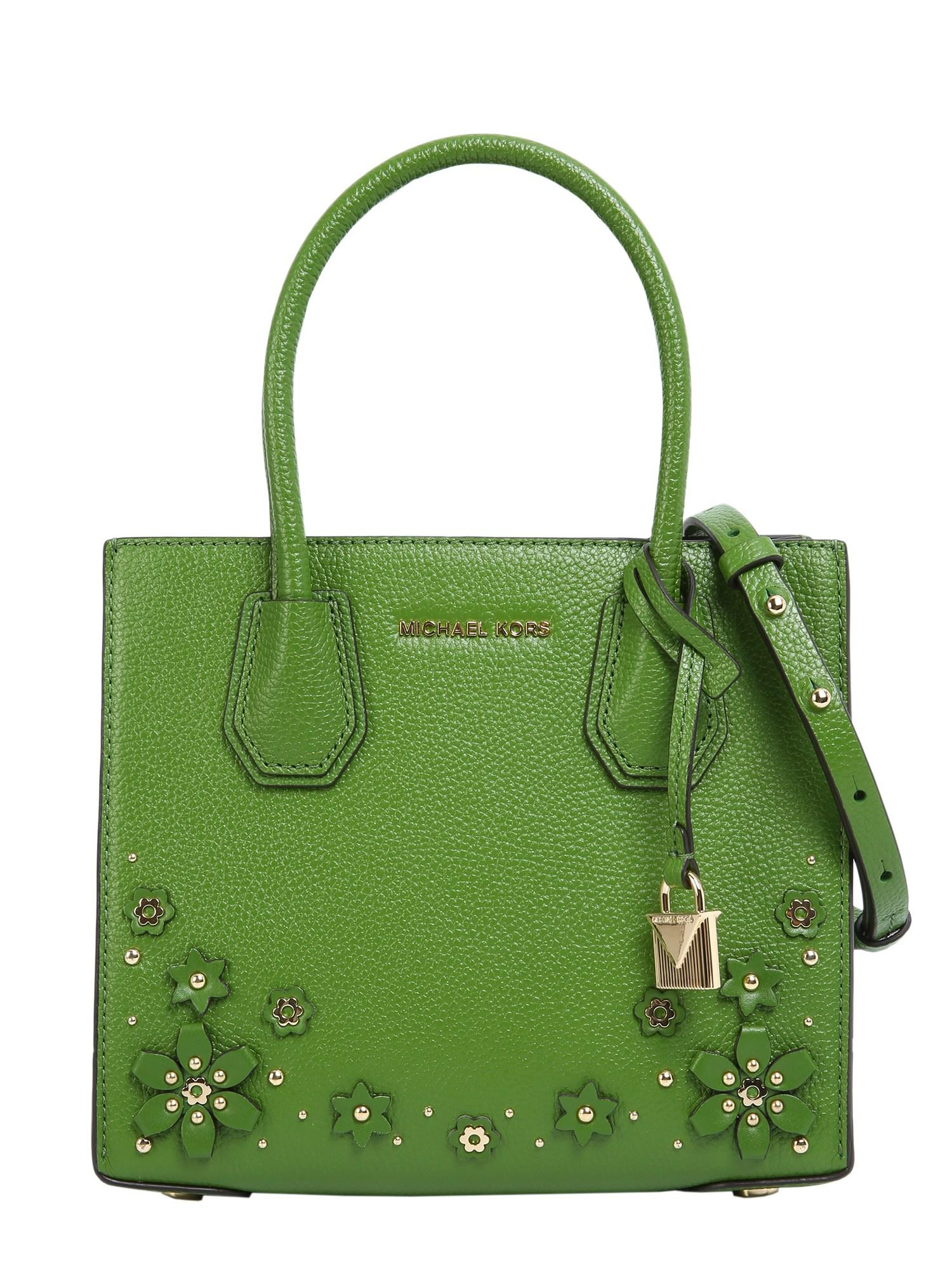 9b9c185421 MICHAEL Michael Kors Medium Mercer Messenger Bag With Flower Patches ...