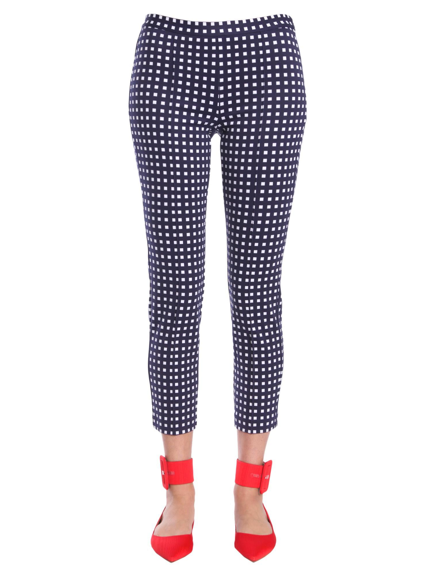 8c3464567c9 Michael Michael Kors Check Fantasy Stretch Trousers in Blue - Lyst