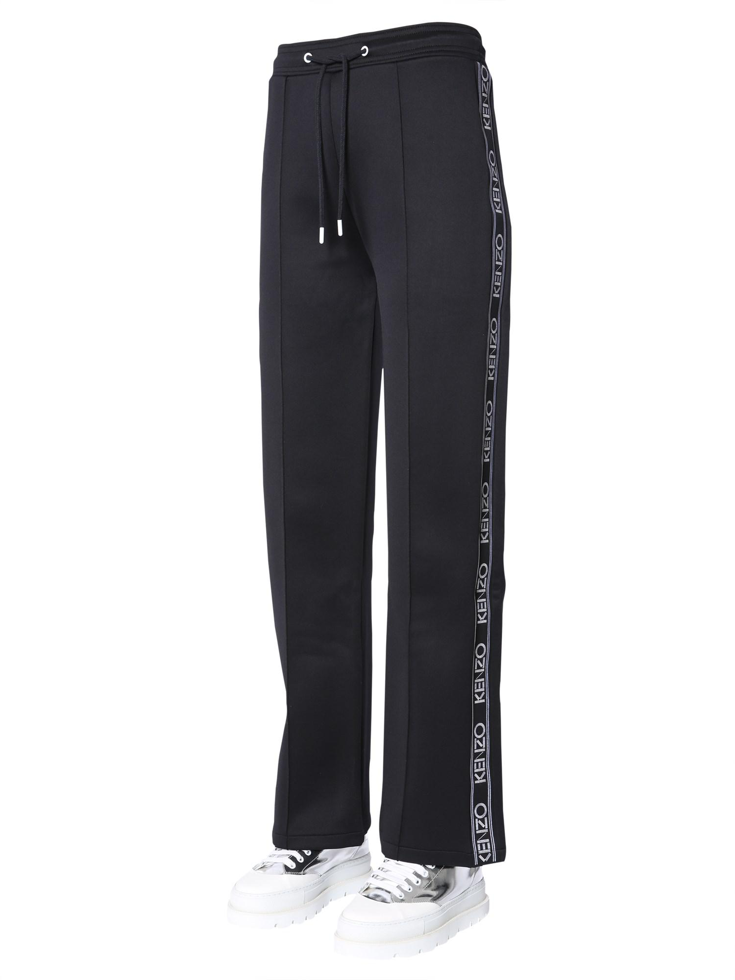 0a9192eb KENZO JOGGING Trousers With Side Logo Band in Black - Lyst