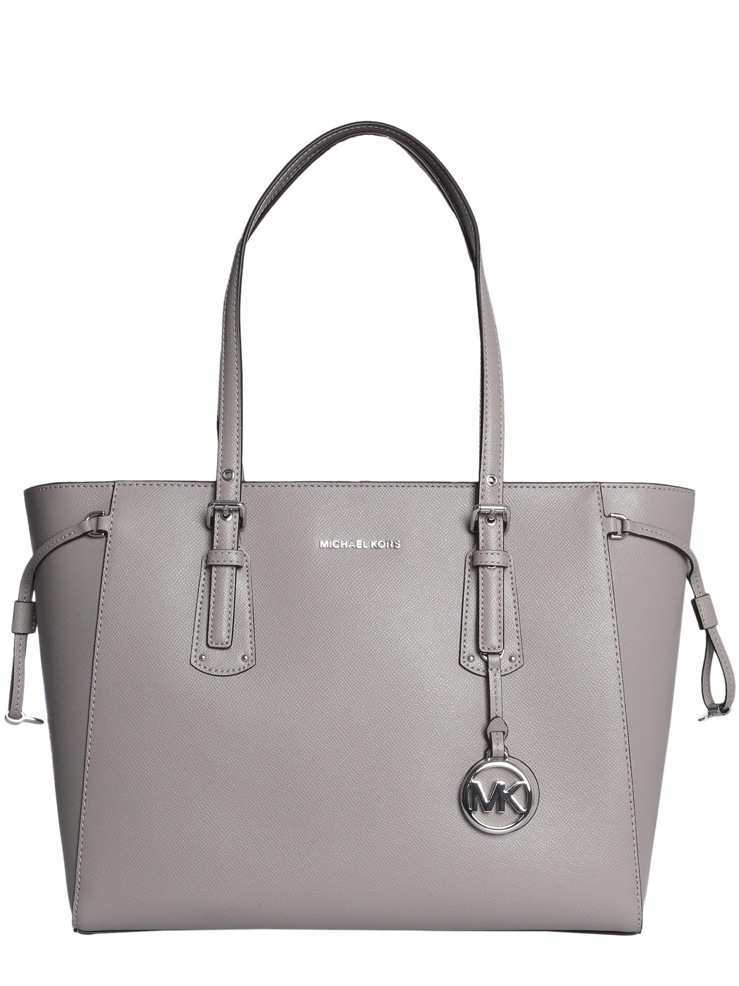4cc9a5323dd2b3 Lyst - MICHAEL Michael Kors Voyager Leather Bag in Gray