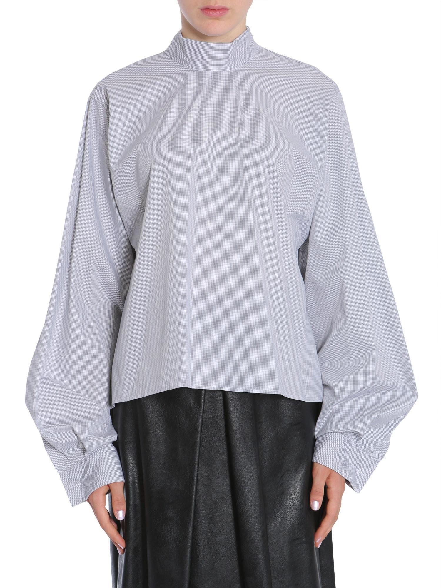 Maison Margiela Woman Appliquéd Striped Cotton-poplin Shirt Blue Size 40 Maison Martin Margiela Red Pre Order Eastbay Fashionable Sale Online Ewe4v