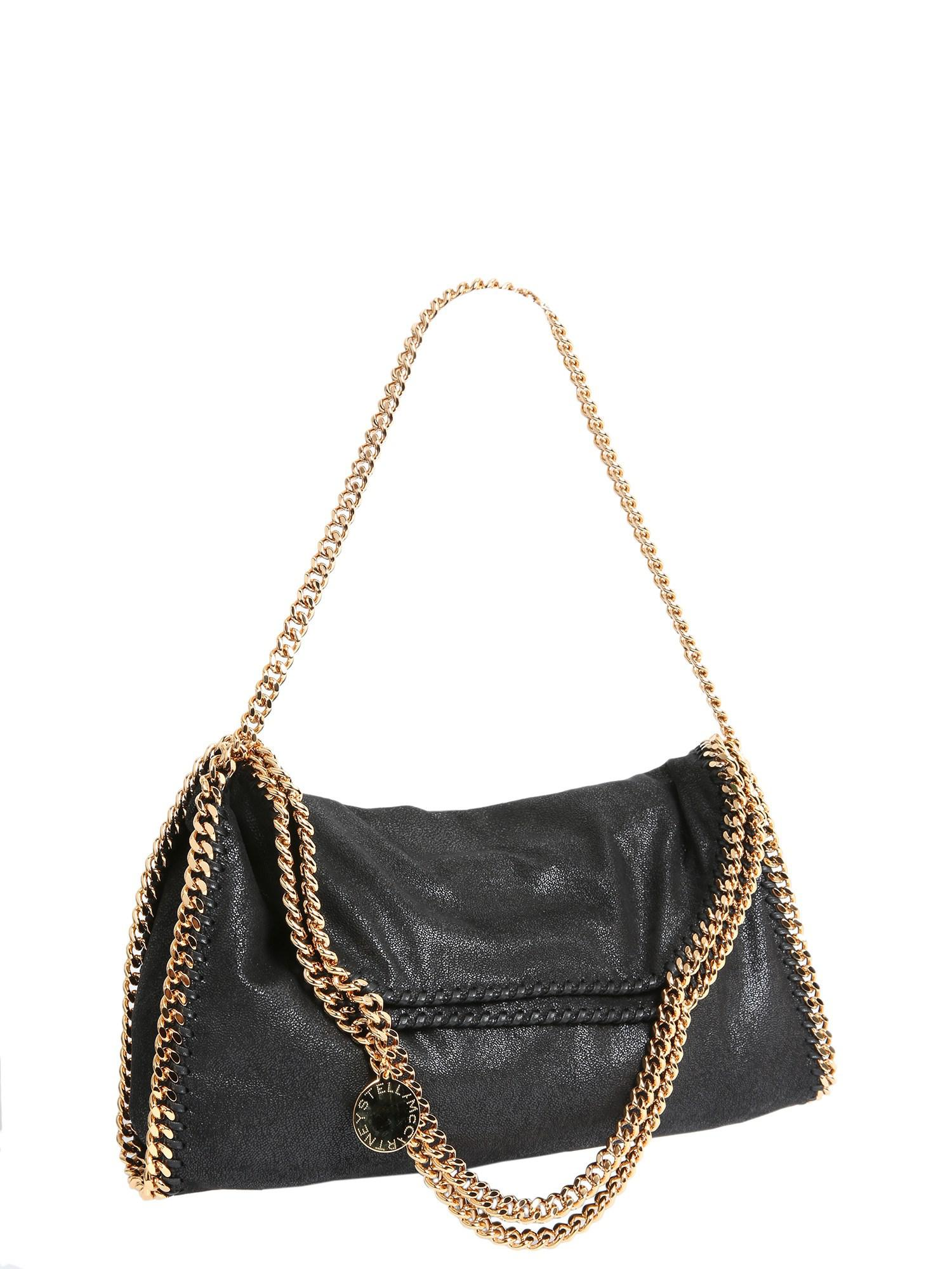 017812d12bf Stella McCartney - Black Falabella SHAGGY Deer Fold Over Tote - Lyst. View  fullscreen