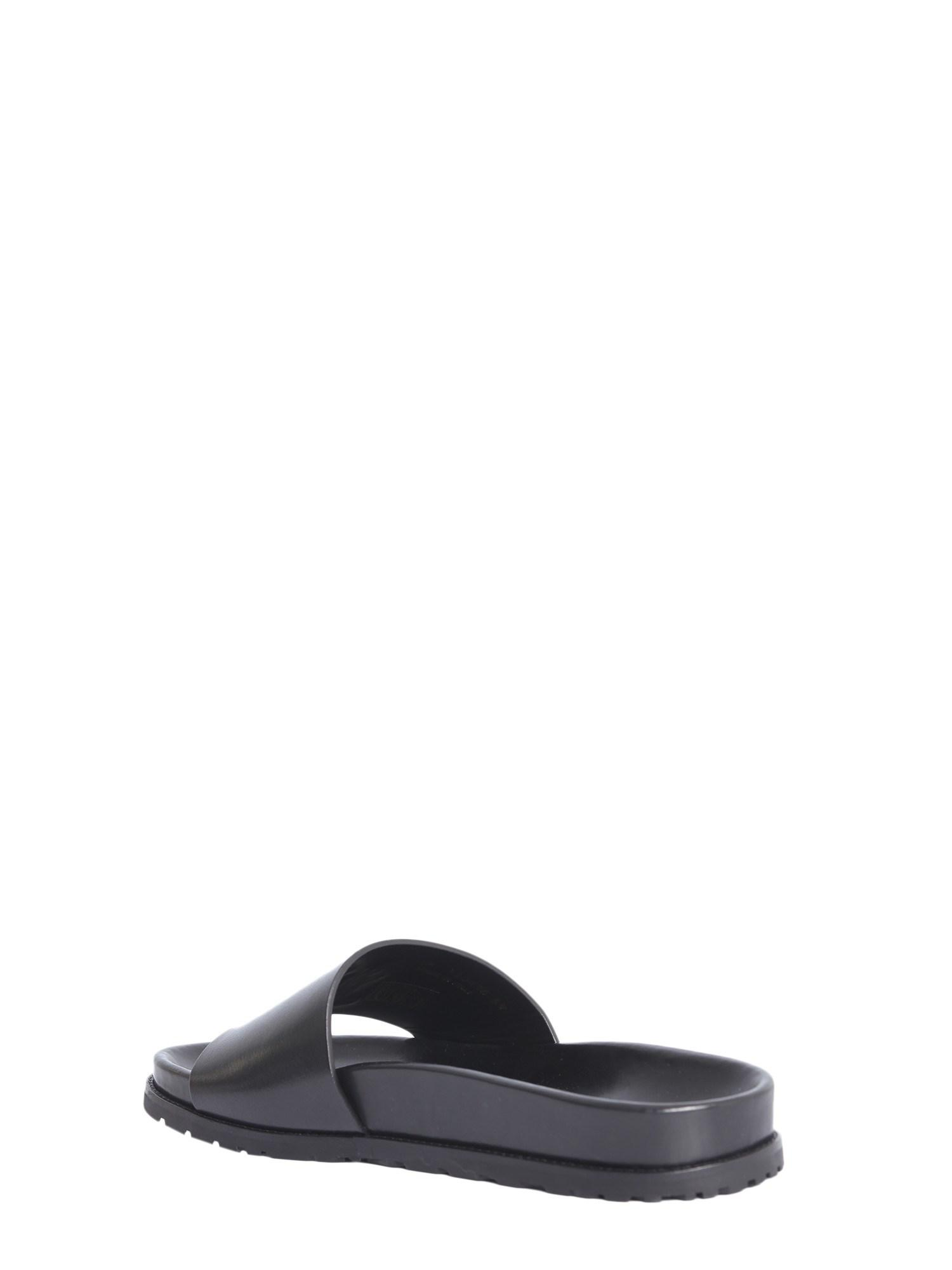 a16b639ffdb3 Saint Laurent - Black  jimmy  Slides for Men - Lyst. View fullscreen