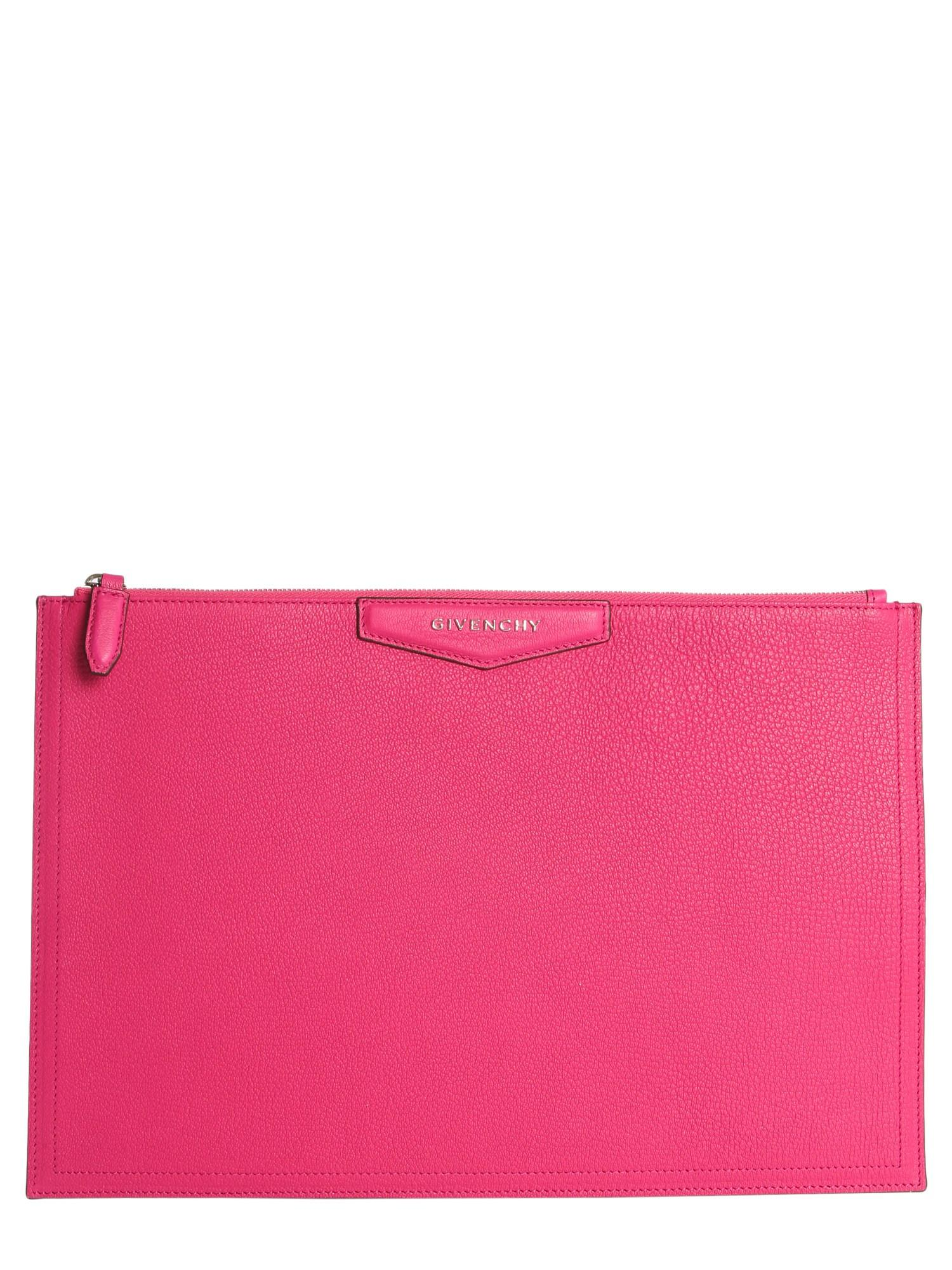 ce3a480205 Lyst - Givenchy Antigona Large Pouch in Pink - Save 55.5921052631579%