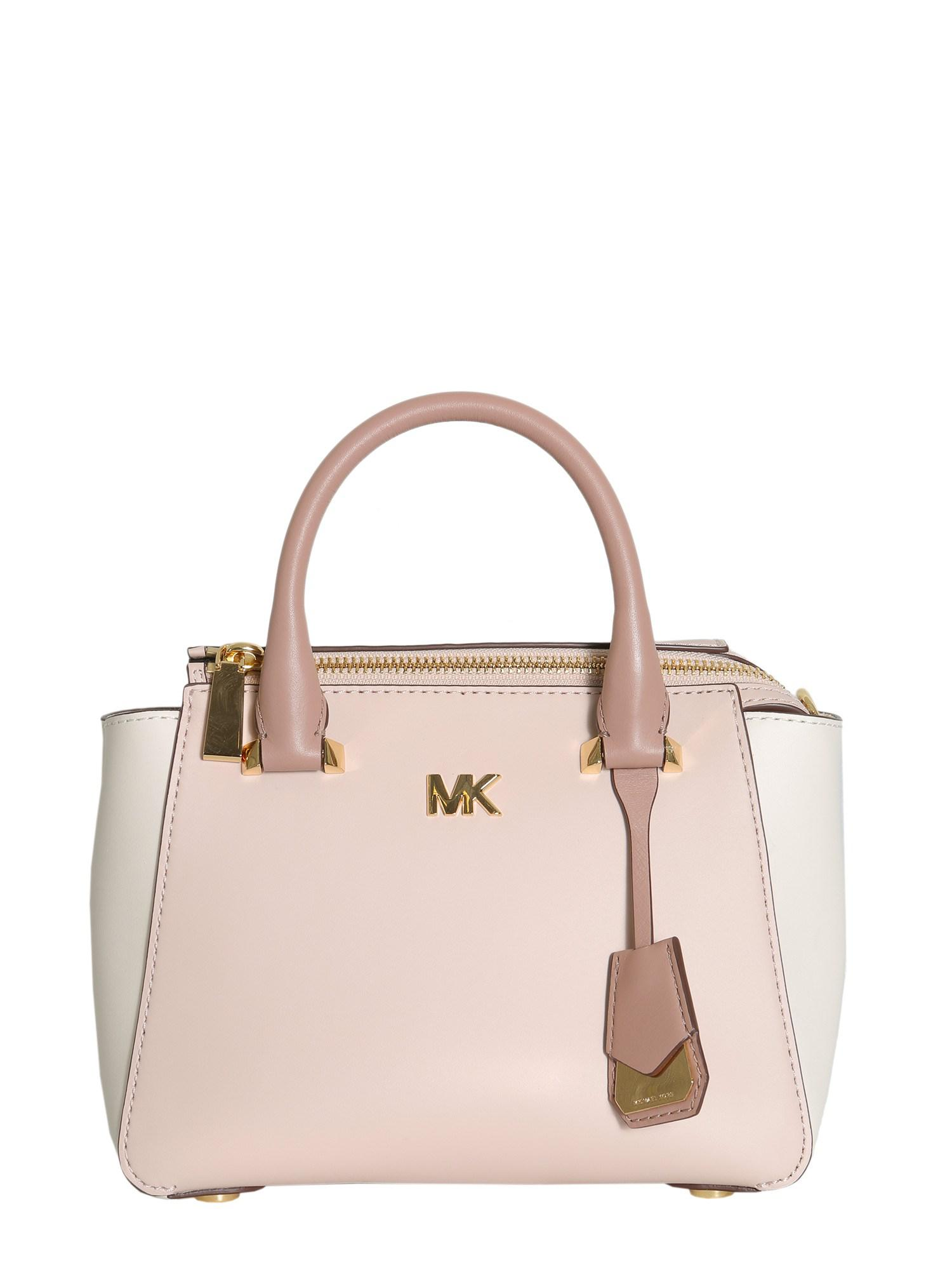 9a73612ea1b0 Lyst - MICHAEL Michael Kors Nolita Mini Leather Messenger Bag in Pink