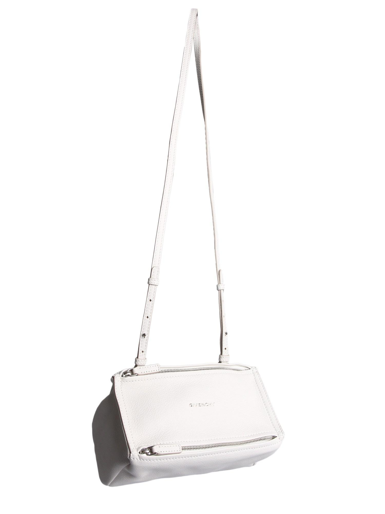 6fd1b3da9ad Givenchy - White Small Pandora Bag In Hammered Leather - Lyst. View  fullscreen