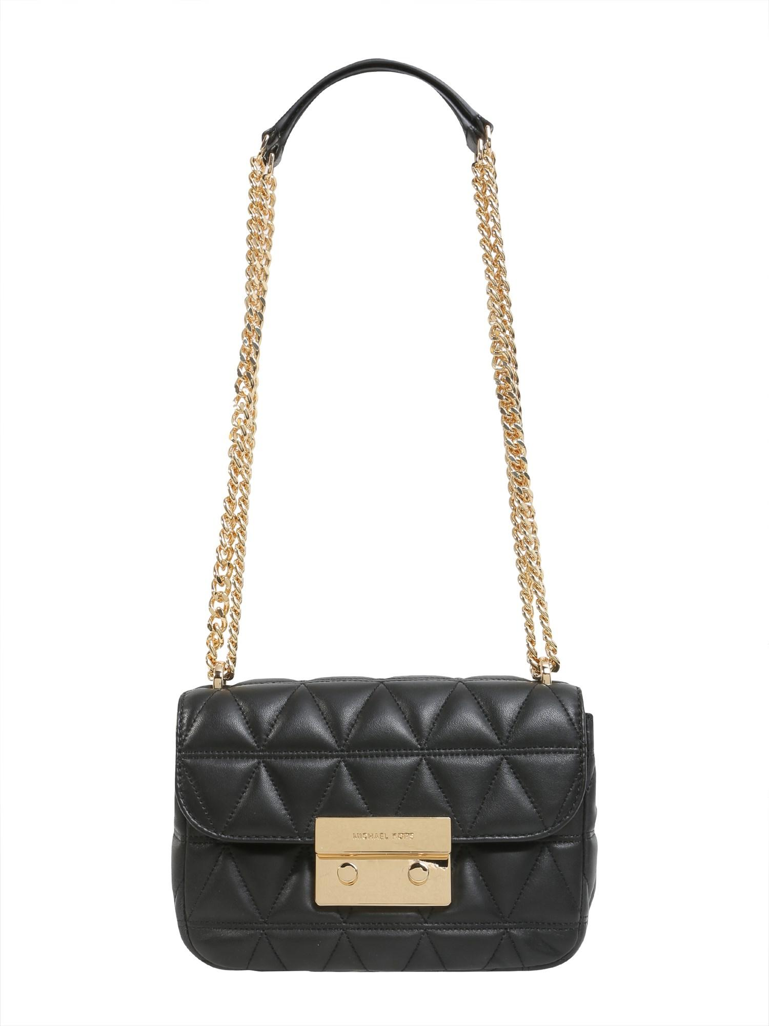 3fe5bd512456 MICHAEL Michael Kors Sloan Small Messenger Bag In Quilted Leather in Black  - Lyst