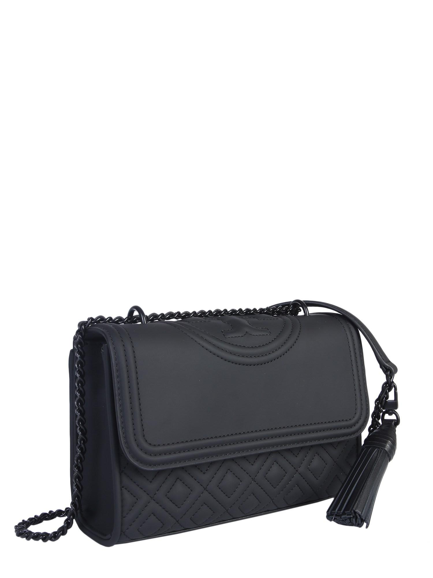 3d4a5ef5b89b Tory Burch - Black Small Fleming Matte Bag In Quilted Leather - Lyst. View  fullscreen