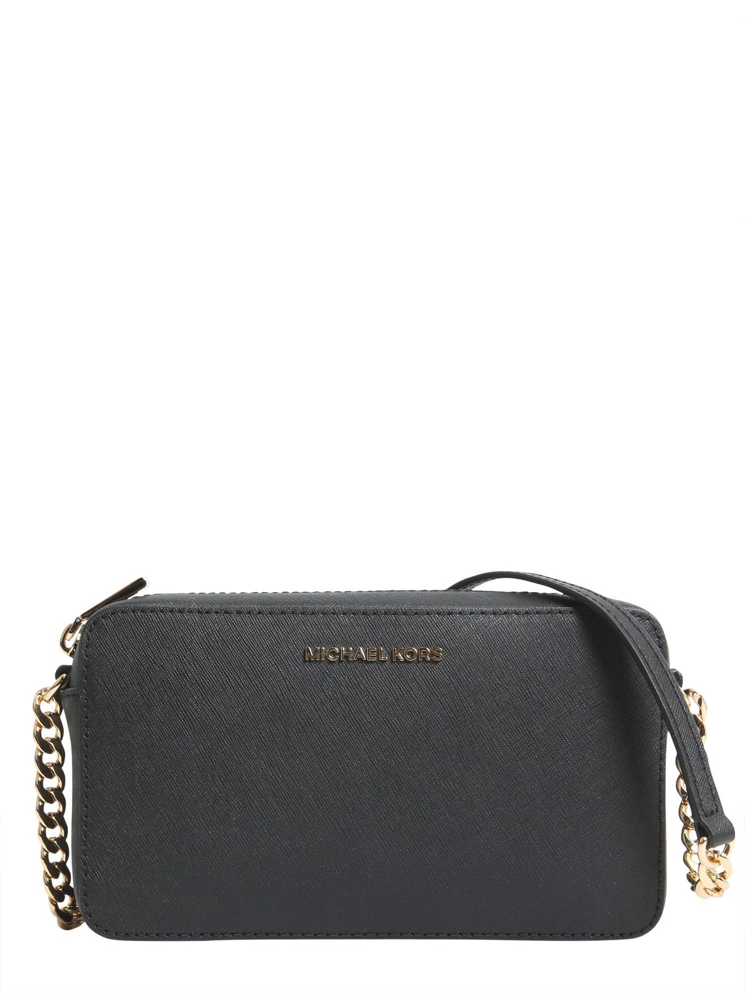 548c453d59a8 MICHAEL Michael Kors. Women s Black Jet Set Large Saffiano Leather Crossbody  Bag