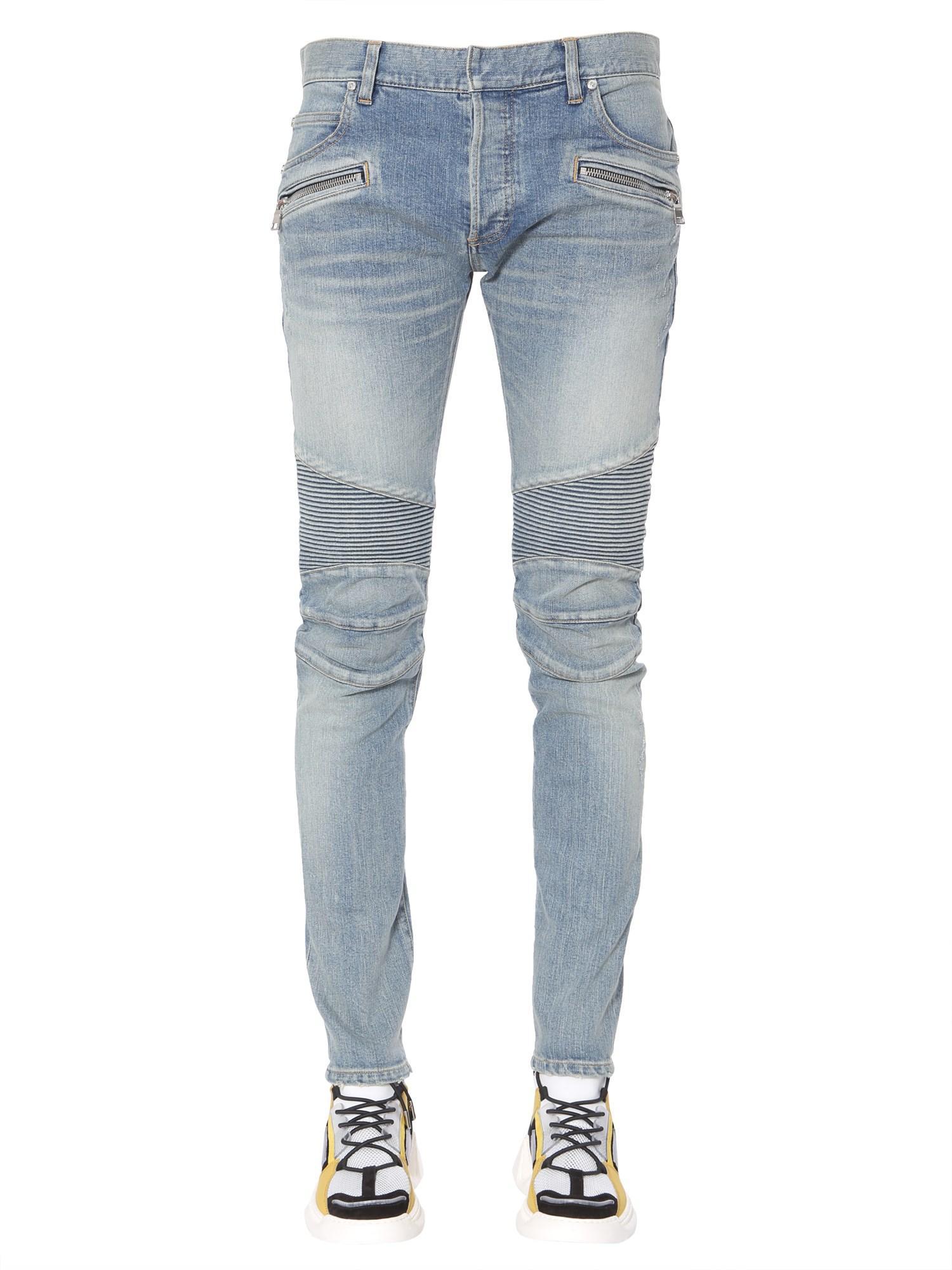 0c5559e0 Lyst - Balmain Jeans Biker Slim Fit in Blue for Men