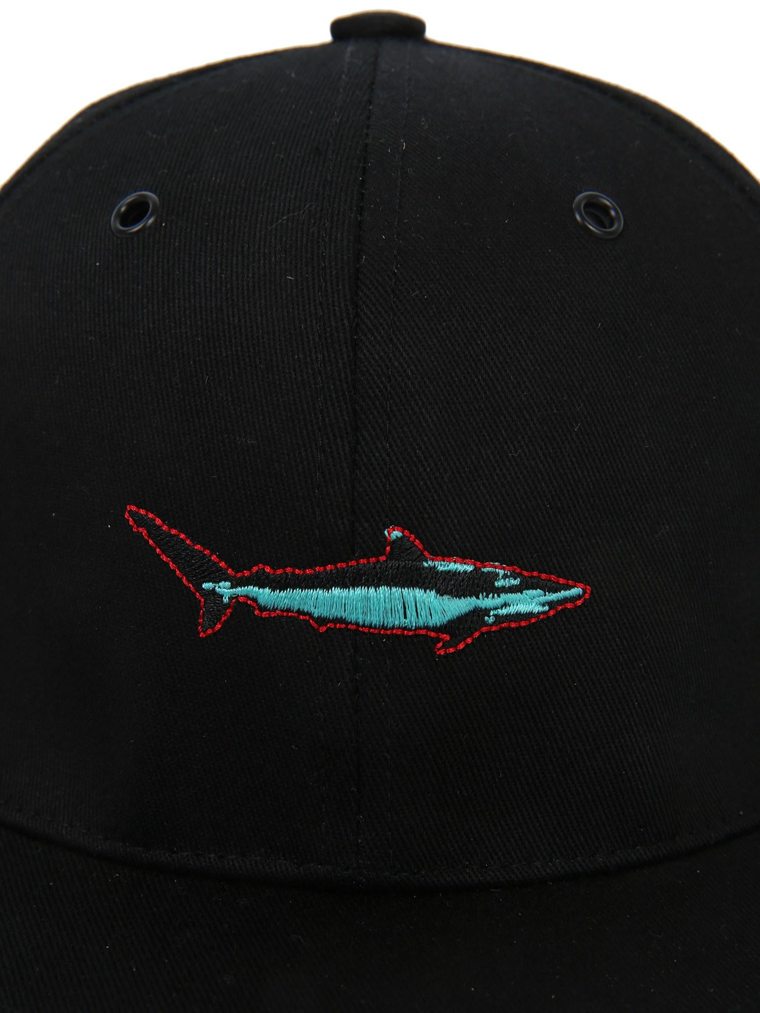 e330076e669 PS by Paul Smith - Black Shark Cotton Baseball Cap for Men - Lyst. View  fullscreen