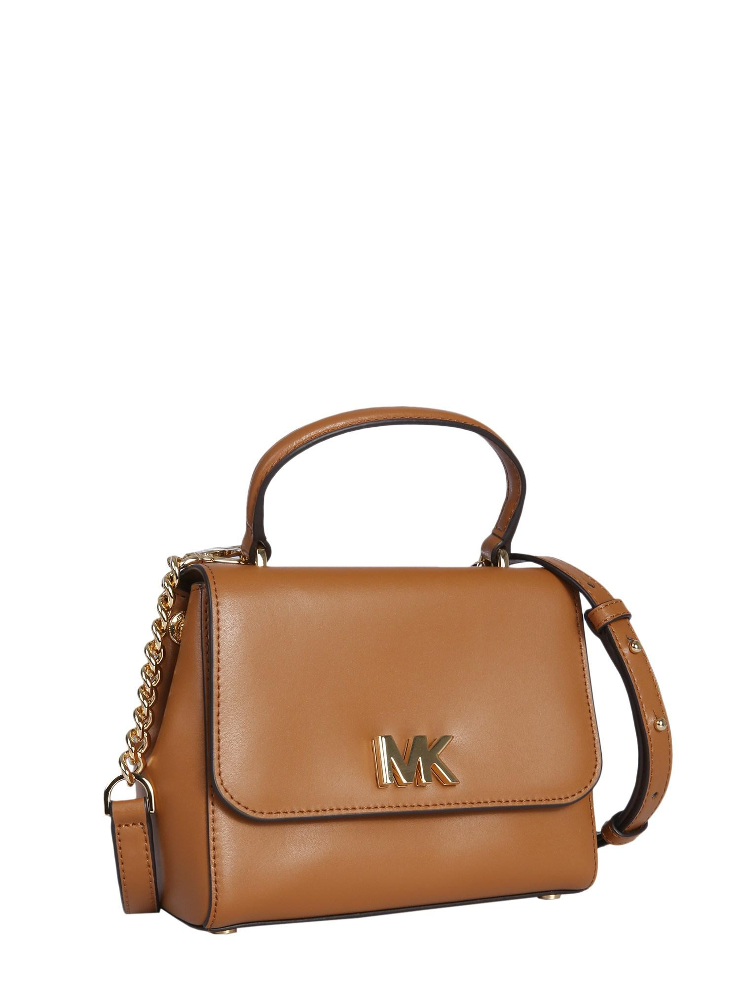 MICHAEL Michael Kors - Brown Small Mott Leather Bag - Lyst. View fullscreen 1b7602da9d6bd