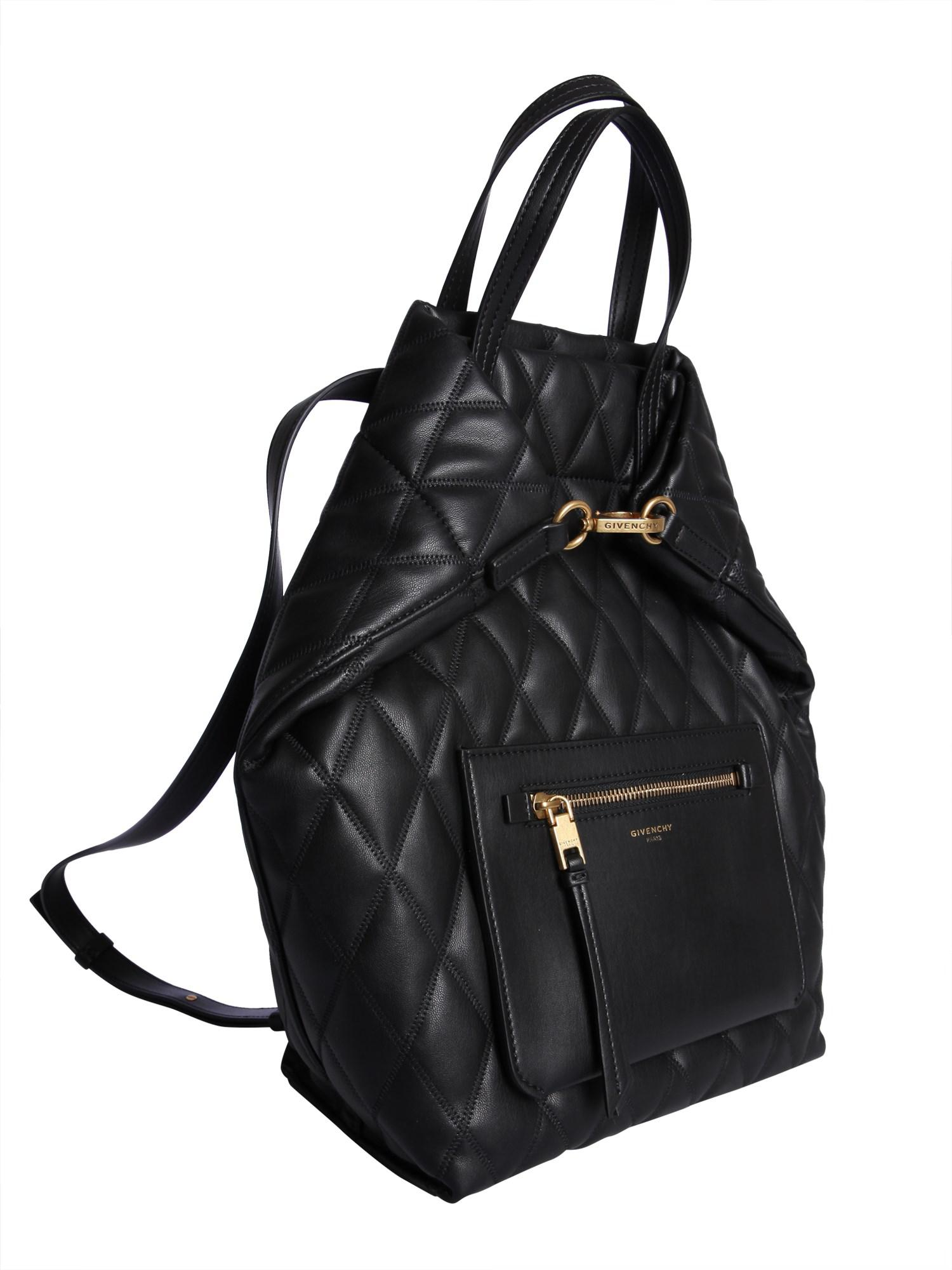 1911fa4cf9d2 Givenchy - Black Quilted Tote Backpack Bag - Lyst. View fullscreen