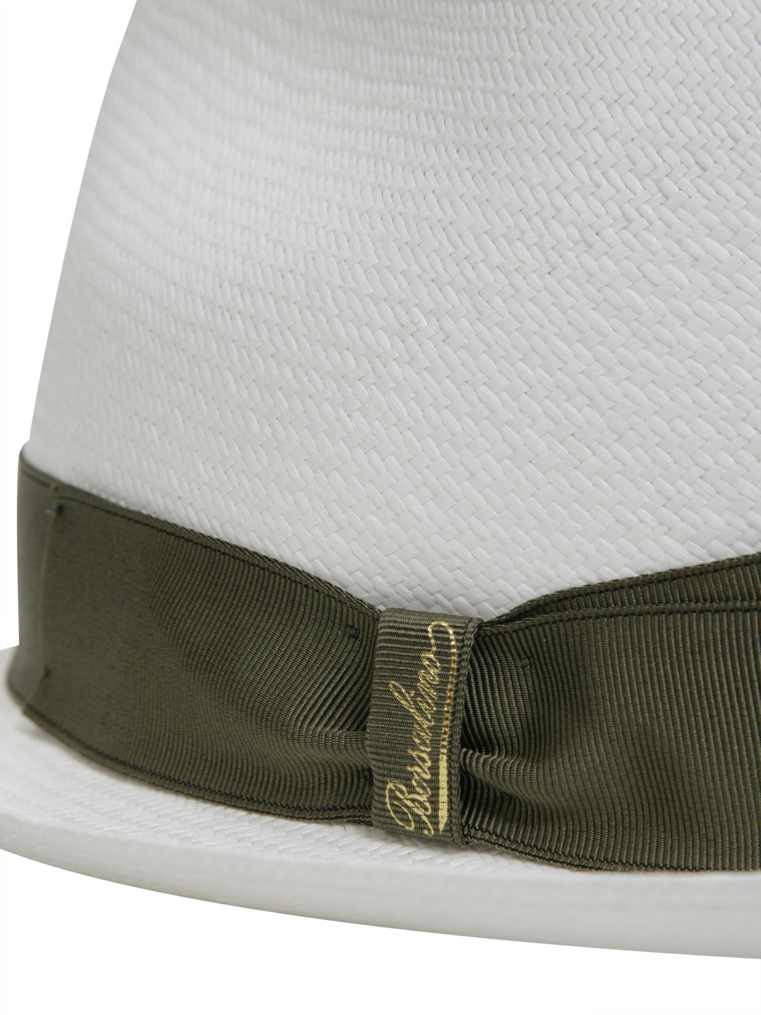 Borsalino - White Cappello Panama Fine Tesa Media In Paglia for Men - Lyst.  View fullscreen bf1588a9b007