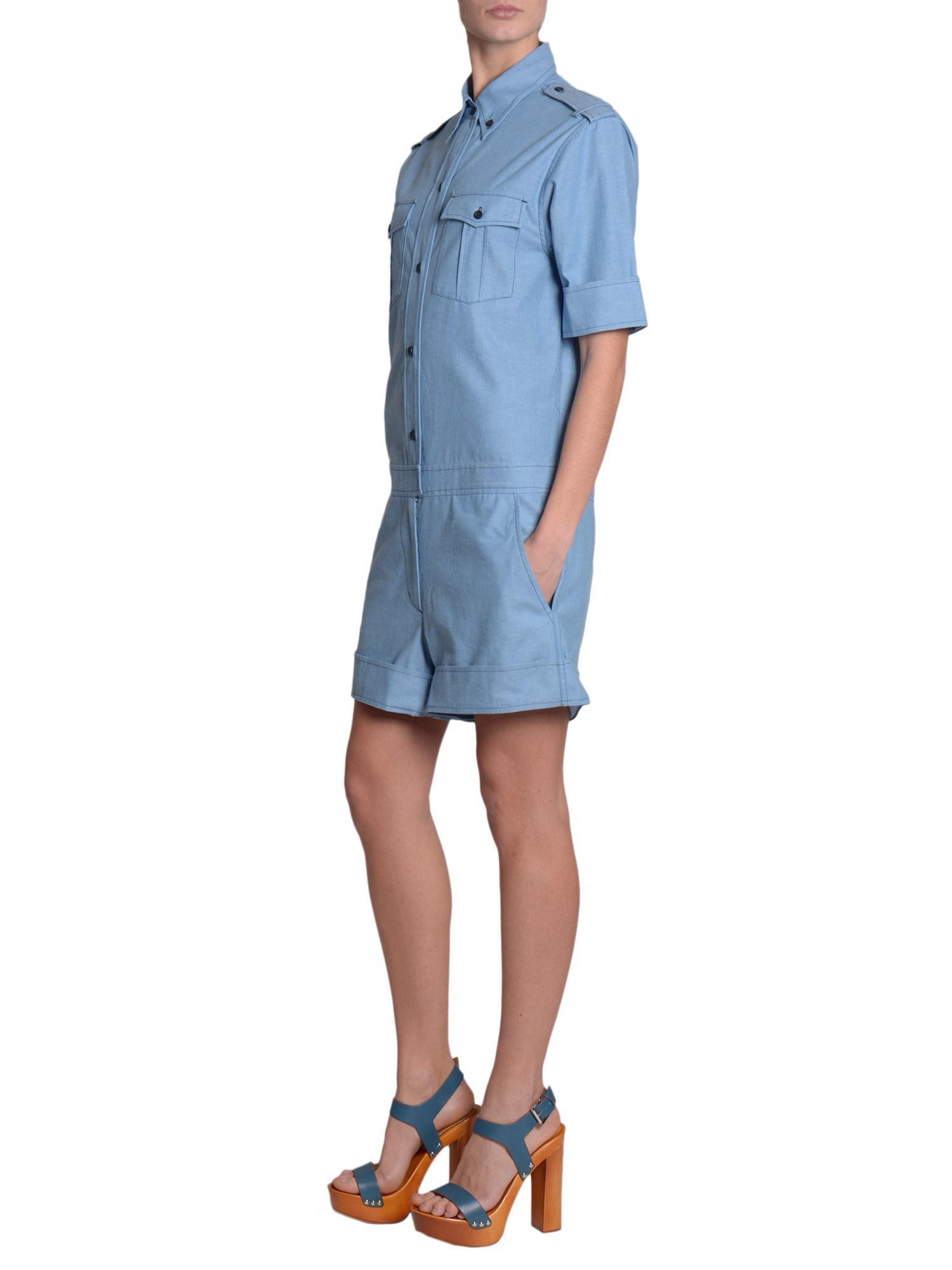 dc47f9ed1e Lyst - Étoile Isabel Marant Short Cotton Jumpsuit in Blue