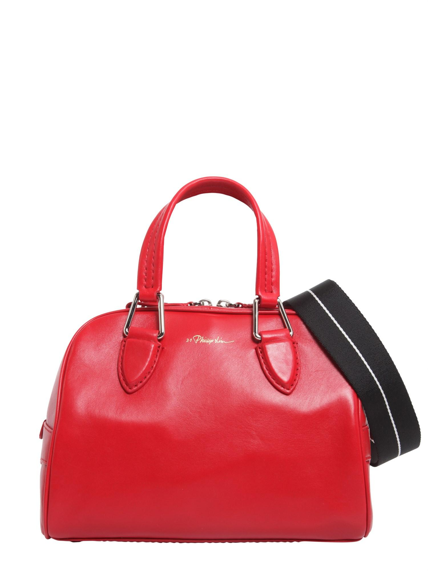 01a7537e46 3.1 Phillip Lim Borsa Bowling Small Ray In Pelle in Red - Save 41 ...