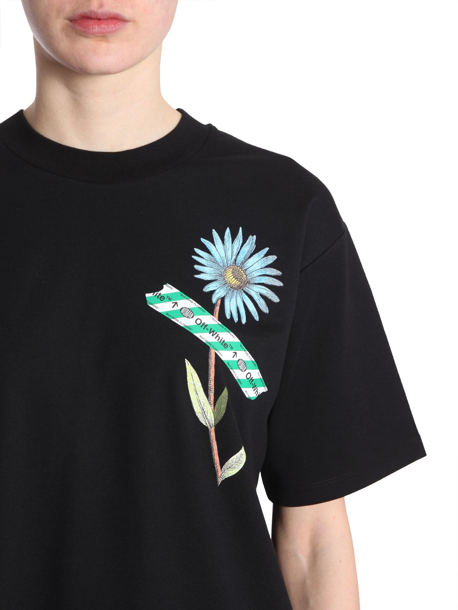 2185ddae Lyst - Off-White c/o Virgil Abloh Oversize Fit Round Collar T-shirt ...