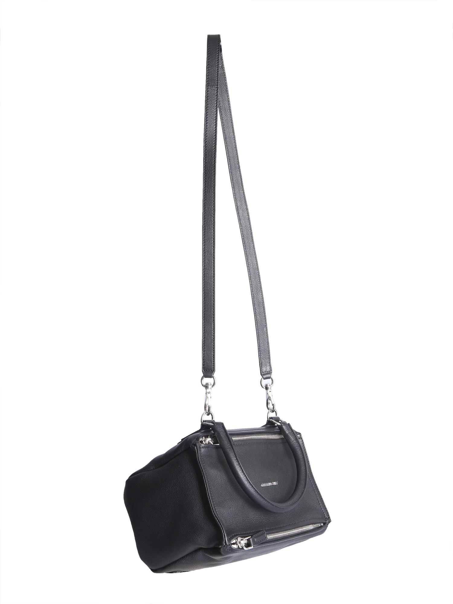 7f6e1487484d Givenchy - Black Small Pandora Bag In Hammered Leather - Lyst. View  fullscreen