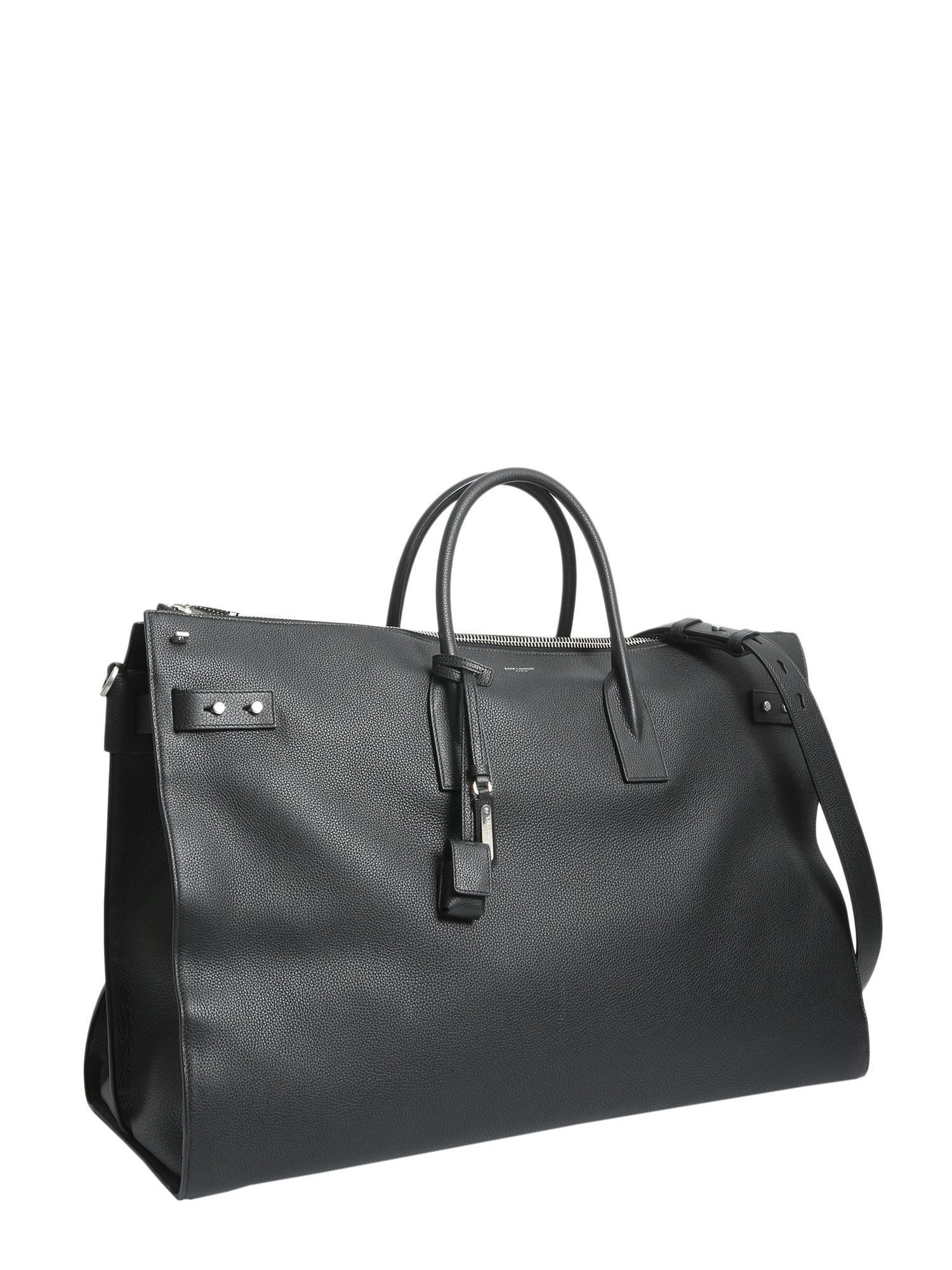 Saint Laurent - Black Large Sac De Jour Souple 72h Leather Duffle Bag for  Men -. View fullscreen 59b58dfdfeb23