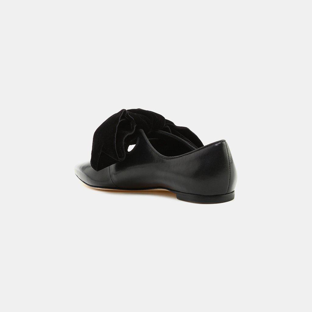 c1a05917a Lyst - Tory Burch Clara Bow Flat Perfect Black perfect Black Caprine ...