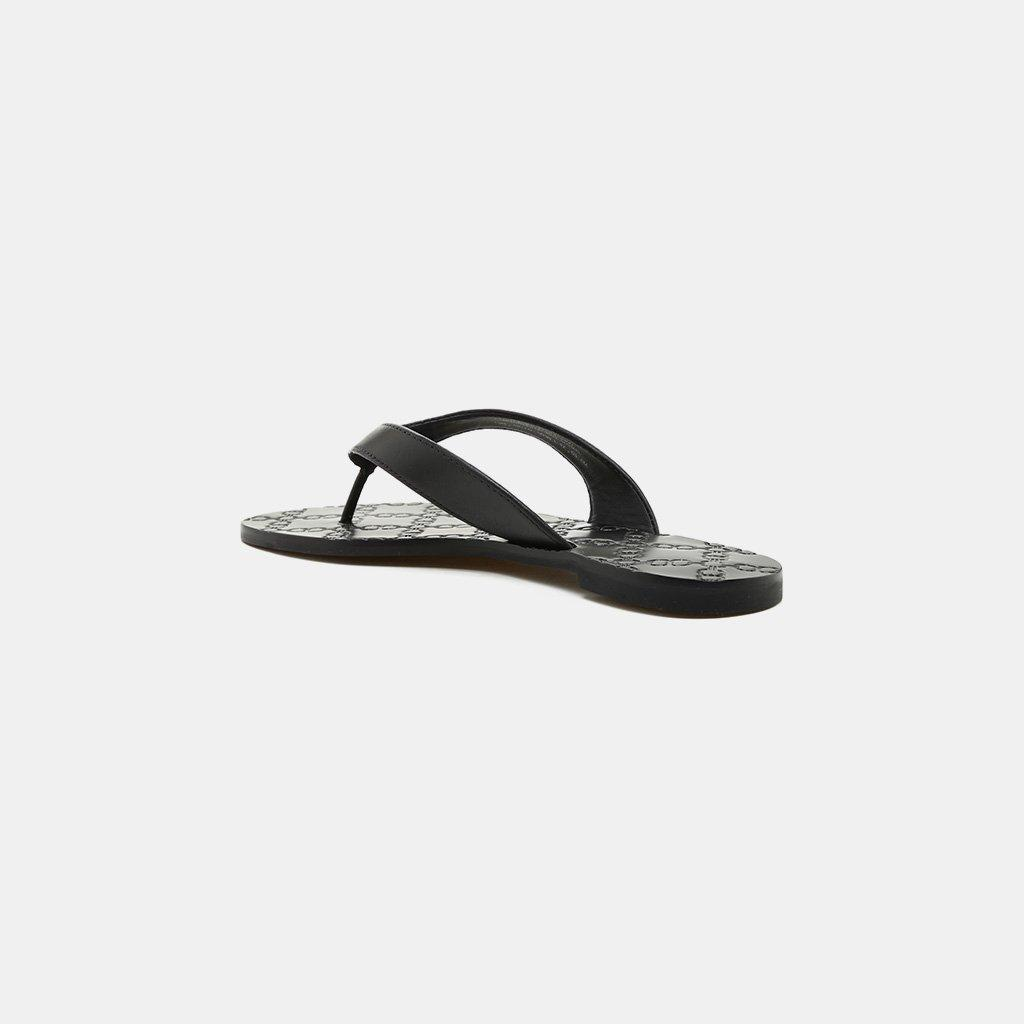 757696541df5f3 Lyst - Tory Burch Monroe Double-t Logo Thong Sandal in Black