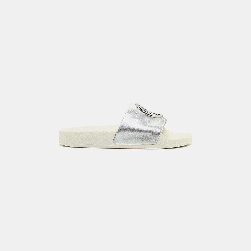 a9a033cd7 Lyst - Tory Burch Lina Slide in Metallic - Save 38%