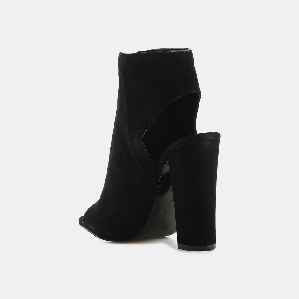 bfb6b9234e6c3 Kendall + Kylie Elaine Suede Peep-toe Bootie in Black - Lyst